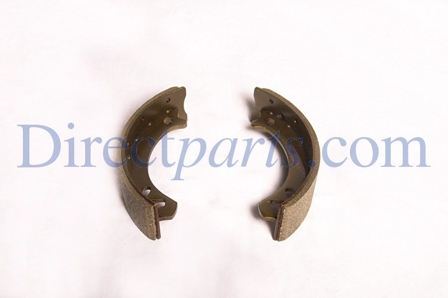 Front Brake Shoe Kit, Two Shoes, For Three Wheel On Road Models with 8 inch Rim.